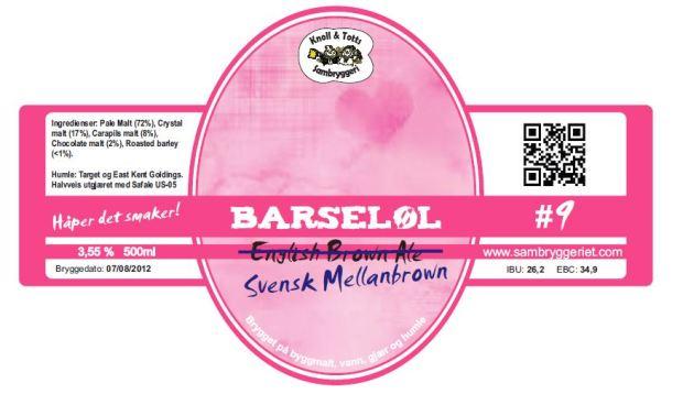 Barseløl-etikett